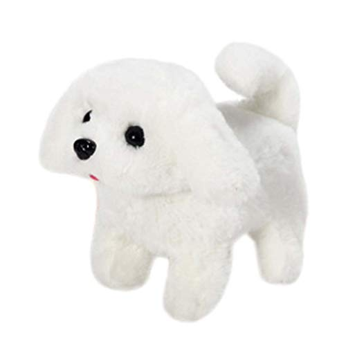 Yiduore Interactive Plush Puppy Toy Flip Over Puppy | Battery Operated Somersaulting, Walking, Sitting, Barking Plush Electronic Interactive Toy Electric Dog Toys Gifts for Kids