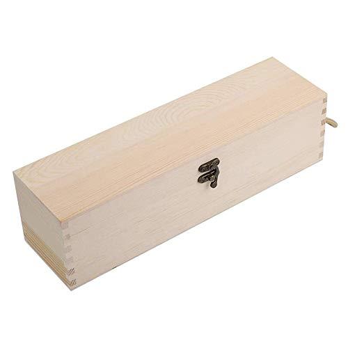 KSTORE Botella Vino de la Caja una Caja de Madera con la Caja de Soporte de Vino Natural de Madera del Vino Rojo con el Lazo también se Puede Utilizar como una Caja de Vino,Wood