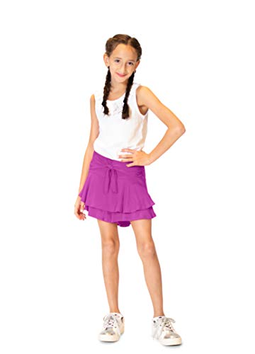 KIDPIK Tie Front Skort|Striking Purple|L (12)