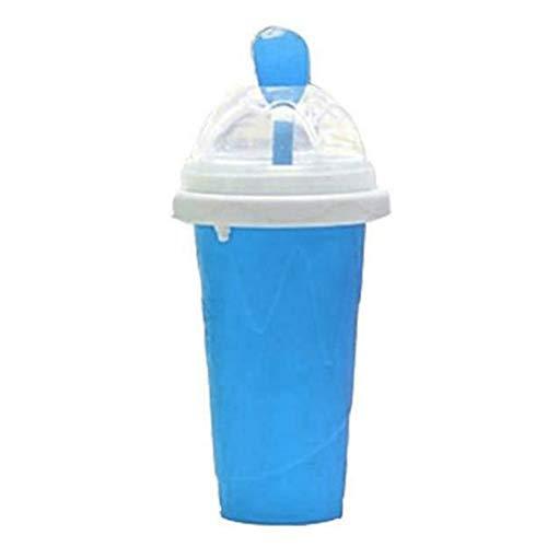YOUNGE Slushy Ice Cream Maker Squeeze Peasy Slush Quick Cooling Cup Milchshake Flaschen blau