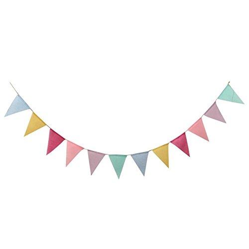 Matefielduk driehoekige vlag van jute vlaggen Wedding Party decoratie hangende