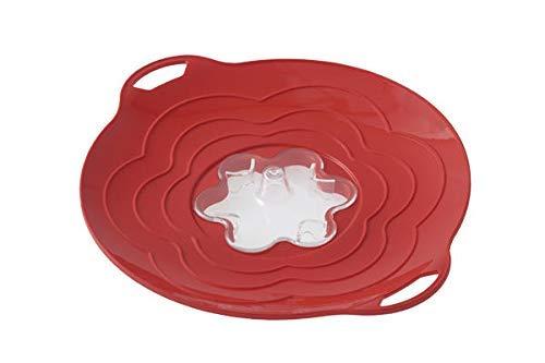silikomart Unbekannt 194896Coperchio Multifunzione Vapo Twist Diametro 30cm, Coperchio in Silicone, 30x 30x 0,5cm, Colore: Rosso