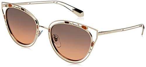 Bulgari 0Bv6104 201318 54 Gafas de sol, Dorado (Orange Grey), Mujer