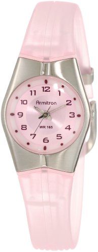 Armitron Sport Women's 25-6355PNK Pink and Silver-Tone Easy to Read Watch
