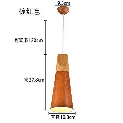 * Hanglamp restaurant licht kantoor eenvoudige houtnerf creatieve persoonlijkheid 10 x 27 cm
