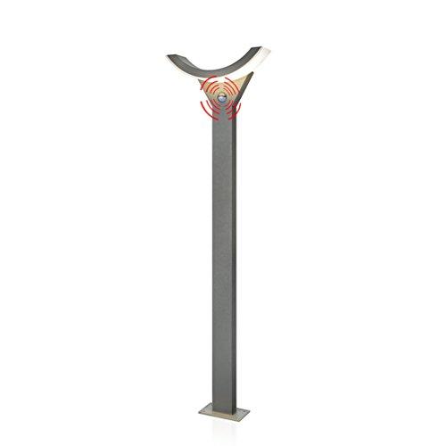Esotec Lampadaire LED SwingLine avec détecteur de Mouvement, Couleur de la lumière 3000 K, Puissance Lumineuse 550 LM, Hauteur 100 cm, 201146