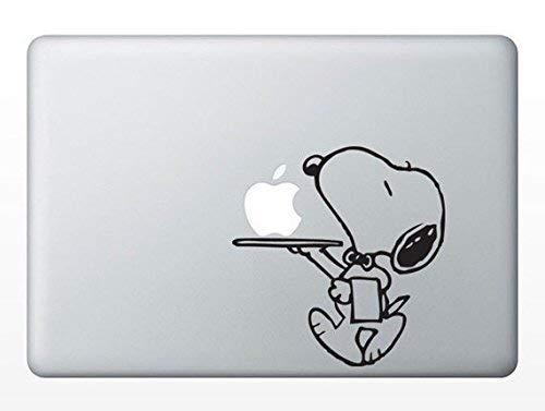 MacDecalDE Butler Service kompatibel mit/Ersatz für Apple MacBook Air Pro Aufkleber Sticker Skin Decal