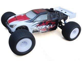 VRX carrosserie PC compleet met Road Truggy sticker (zwart) 1/8 RH811 1 R0026