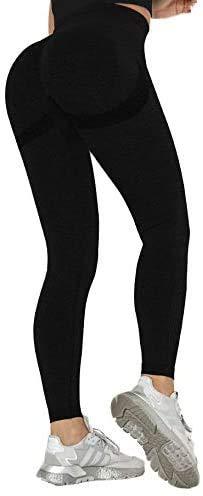 Emeng Leggings de gimnasio sin costuras para mujer, cintura alta, pantalones de yoga, control de barriga, elásticos, para correr, para mujer