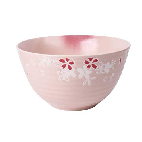 WEI-LUONG Dining Ceramica da tavola Giapponese Cherry Soup Bowl Insalata di Frutta Piatto Family Restaurant Alimentari for casa Ciotola 21x11.5cm Kitchen