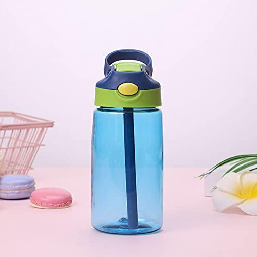 Yetier Botella de Agua, Moda 480 ml Linda Botella a Prueba de Fugas con Tapa de Paja Botella de Bebida Escolar para niños