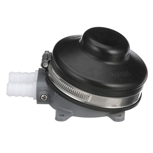 Whale GP4618 Babyfoot Manual Freshwater Galley Pump, Connects to ½-Inch Flexible Hose, 2.2 GPM Max Flow Rate, Black, One Size