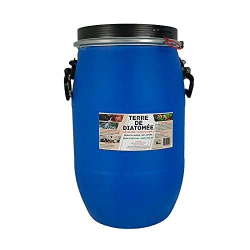 Terre de Diatomée 25kg Non calcinée/Alimentaire - Bidon Solide et réutilisable. Fermeture par cerclage Qui Garantie l'étanchéité.