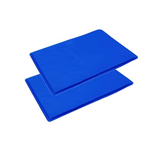2 Stück Selbstkühlende Kühlmatte Body Pad Matratze Kissen Yoga - Absorbiert und leitet Wärme ab, verbessert Schlaf, Grippe und Fieber, Migränekopfschmerzen - Natürliches kühlendes Kissenbett 30x40cm