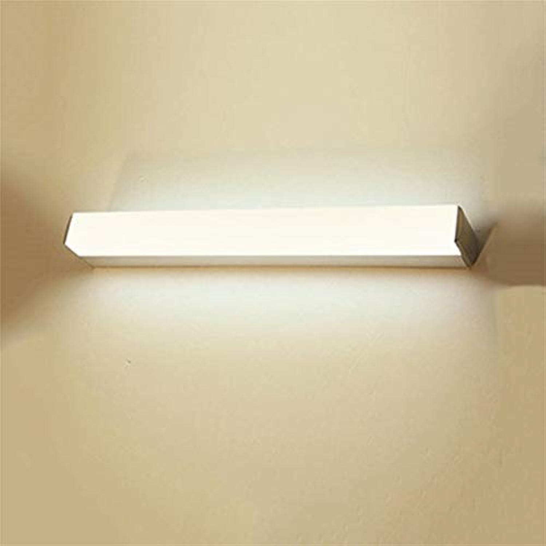 BAIF Moderne einfache energiesparende und Umweltschutz LED-Spiegel vorne Ligh Wandleuchte Badezimmerspiegel Schrank Lichter feuchtigkeitsBestendig Anti-Fog (Farbe  warmes Licht-55cm22w)