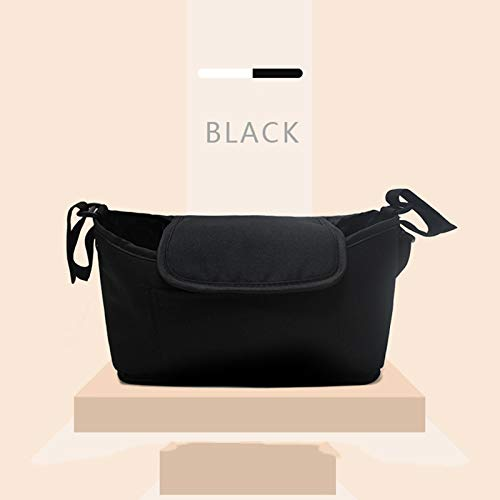 Cocodeal Stroller Bag Pram Stroller Organizador Bebé Cochecito Accesorios Cochecito Taza Titular Cubierta Bebé Buggy Invierno Bebé Accesorios para Bebés Black