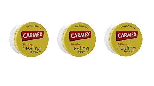 Carmex Lip Treatment, trattamento per labbra, balsamo per labbra, 3 vasetti, prodotto degli USA