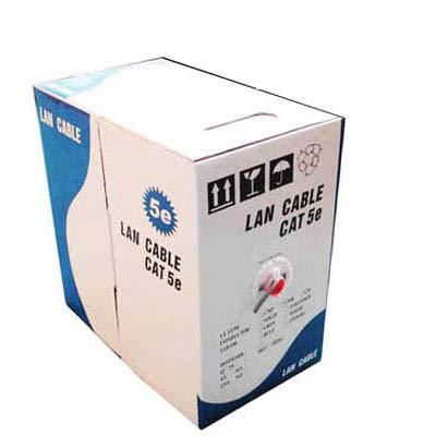 Wuqiang LAN por Cable (Cable de Datos CAT5E), Aluminio Revestido de Cobre (CCA), Acero Revestido de Cobre (CCS), Longitud: 305M, Diámetro: 0,38 mm-0.4mm (Color : Color4)