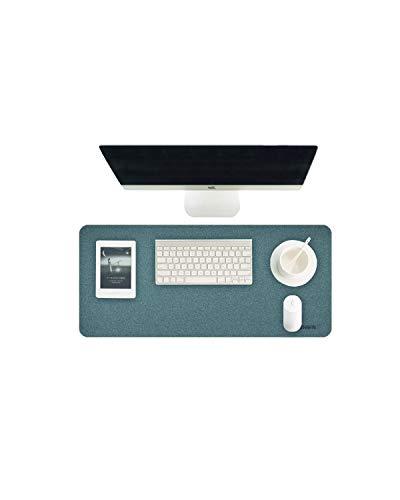 Almohadilla escritorio Hagibis, protector de papel grande de corcho natural, material de superficie superfino, tapete de escritorio de doble cara en oficina, hogar, juegos (Corcho Azul, 62x30 cm)