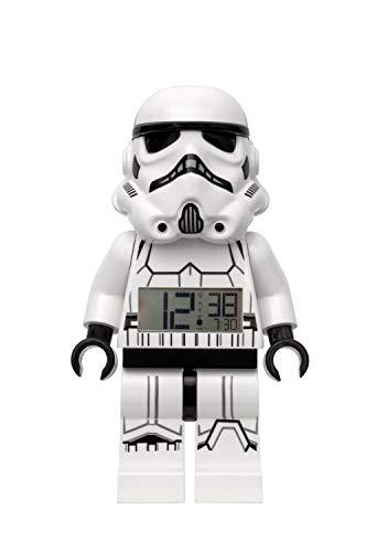 By ClicTime 7001019 Stormtrooper Minifigure Alarma iluminada con Sonido caracterizado Lego Star Wars, Blanco