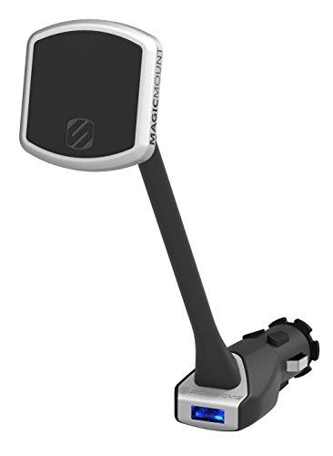 SCOSCHE MP12V MagicMount Magnetic Power Outlet Mount Holder for Vehicles, Black