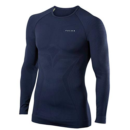 Falke Herren Langarmshirt Maximum Warm Tight Fit, 1 Stück, space blue, M