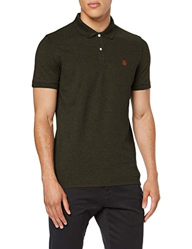 SELECTED HOMME Herren SLHARO SS Embroidery Polo W NOOS Top, Detail:Melange Rosin, L