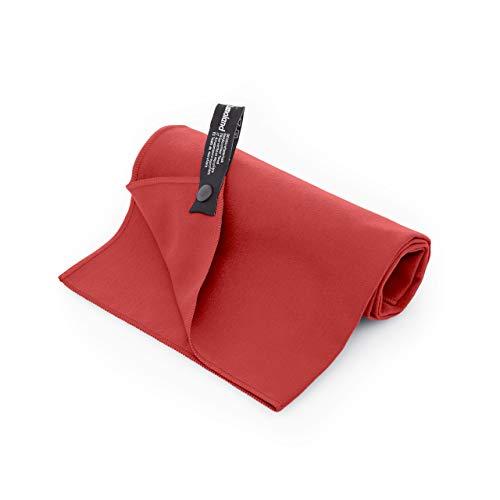 Lumaland Mikrofaser Handtücher Ultra saugfähig Leichte Badetücher 70 x 140 cm Magenta Rot