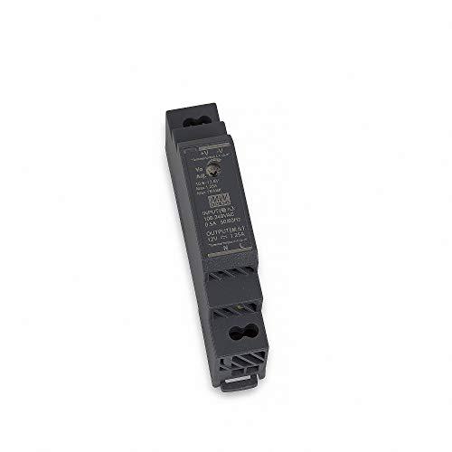 HDR-15-12 LED Netzteil Trafo Hutschienen-Netzteil (DIN-Rail) MEAN WELL HDR-15-12 12V/DC 15W LED Transformator für LED Beleuchtung, schwarz, 90x17,5x54,5mm