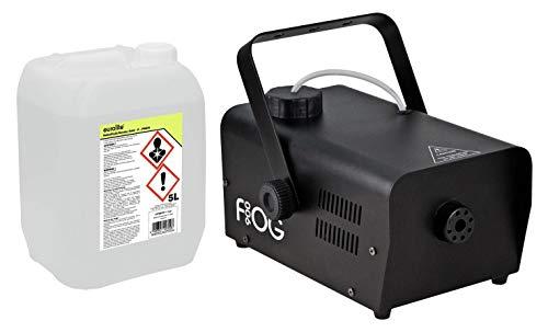 Involight FOG 900 Nebelmaschinen Set (das ideale Partyset: Nebelmaschine 2,5m Ausstoßweite & Funkfernbedienung, inkl. 5L Nebelfluid, auf Wasserbasis & geruchlos)