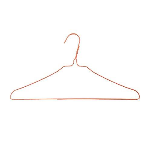オリタニ 針金ハンガー φ2.7×40cm幅 50本セット カラー (オレンジ)