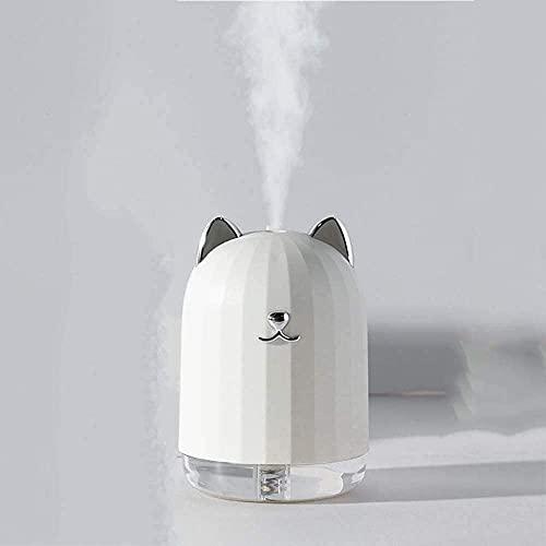 lndytq USB luftfuktare nattlampa hem sovrum härlig flicka hjärta liten bärbar kontor 3 timmars livslängd vit rosa tecknad söt husdjursform