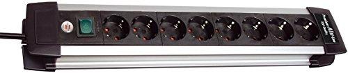 Brennenstuhl premium-alu-line multiprise avec interrupteur, 1391000010 noir 8-fach