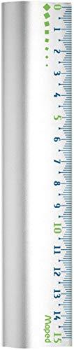 Maped - Règle 15 cm en Aluminium - Règle Résistante avec Base Antidérapante - Règle de Traçage Solide et Durable