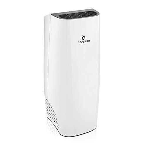 Airvention Luftreiniger - 3-stufiges Filtersystem mit Vorfilter, Aktivkohlefilter und H13 HEPAfilter für eine 99.97% Filterung. Luftfilter gegen Viren, Staub und Pollen für Räume bis 30 qm
