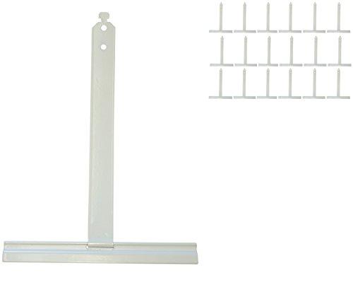 15x Alu Aufhängefedern für MAXI Rollladen, Sicherungsfeder, Aufhängeleiste,