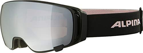 ALPINA Double Jack mag Q-Lite Gafas de esquí, Unisex-Adult, Black-Rose, One Size