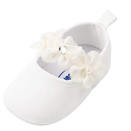 Zapatos Bebe Niña Primeros Pasos Perla Algodón Zapatos para Recien nacido bautizo