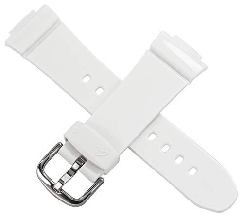 Correa para reloj Casio BG-6900 BG-6903 BG-140 QW-3297KT, color blanco