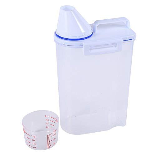 Redxiao 【𝐁𝐥𝐚𝐜𝐤 𝐅𝐫𝐢𝐝𝐚𝒚 𝐃𝐞𝐚𝐥𝐬】 Vorratsbehälter für Heimtierfutter, einfach mit Tasse gießen Heimtierbedarf-Set Hundekatze-Trockenfutter-Spender