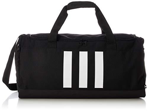 adidas 3S Duffle M - Borsa sportiva, per adulti, unisex, nero/bianco (multicolore, taglia unica)