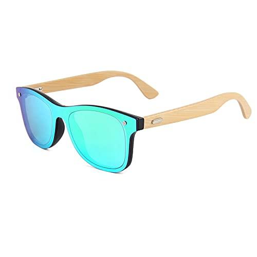 Gafas de sol de madera de bambú para hombre y mujer, polarizadas, unisex, madera auténtica, vintage, UV400, 317M-1