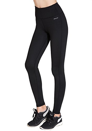 Aenlley Women's Activewear Yoga Pants High Rise Workout Gym Spanx Tights leggings Color Black Size L