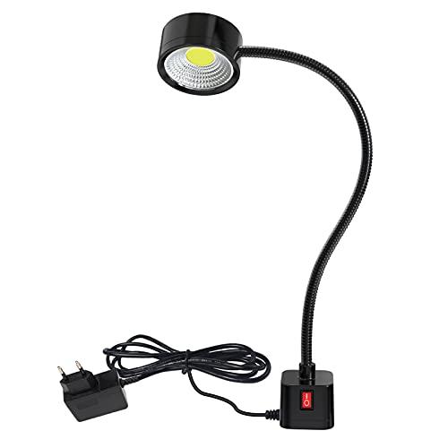 Luz de trabajo magnética LED Lámpara de cuello de cisne flexible de 300 mm 500 lúmenes para máquina de coser Torno Fresado Taladro Prensa Iluminación industrial