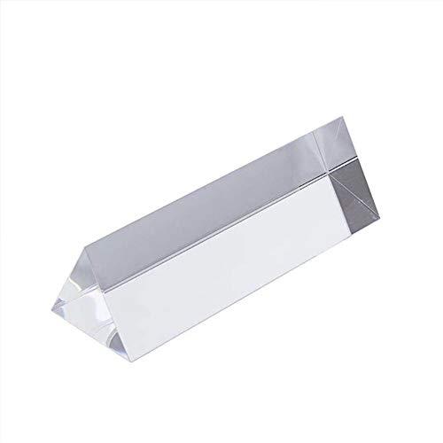 SosoJustgo2 Kristallprisma, Kristall optisches Glas Dreiecksprisma Refraktor für den Unterricht Lichtspektrum Physik, Glasprisma & Prism Fotografie