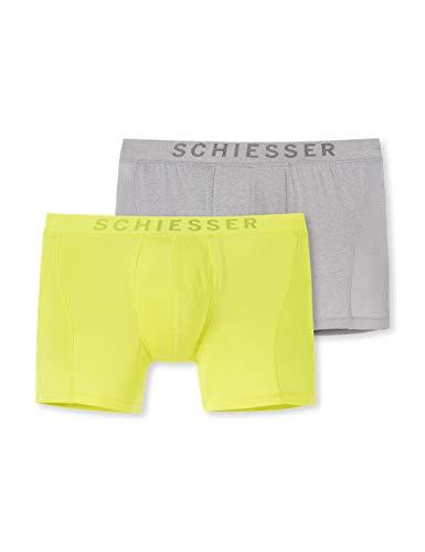 Schiesser Herren Multipack Cyclist (2er Pack) Boxershorts, Mehrfarbig (Sortiert 2 908), 6