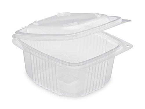 GUILLIN Ondipack Confezione da 12 Sacchetti da 50 scatole per microonde con coperchi a Cerniera, Traslucido, 14,2 x 12,3 x 6,9 cm