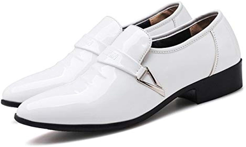 NSLFX Nouveaux Hommes Chaussures Formelles en Cuir Oxfords ApparteHommests Hommes d'affaires à Bout Pointu Chaussures habillées Souples Hommes Lacets de Mode chaussures Hombre