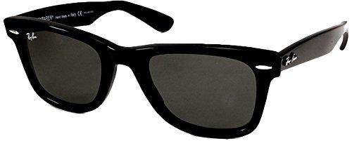 Ray-Ban RB2140 Original Wayfarer - Gafas de sol polarizadas (50 mm) Negro Marco negro lente negro sólido 50 mm