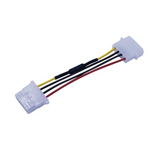 Conector de ventilador de Mobestech, conector de extensión de 4 polos, velocidad de enfriamiento, resistencia para reducir la reducción de ruido, cable de cable para ventilador de PC